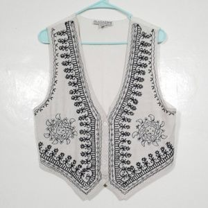 Magazine vintage hand embroidered and beaded vest